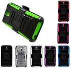 For HTC Desire 610 612 Robotic Holster Belt Clip Combo Stand Cover Case