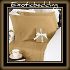 Brown Solid 4-Piece Bed Sheet Set 1500 Thread Count Egyptian Cotton