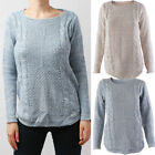 Women Ladies Fall Winter Krew neck Knitted Pullover Sweater Jumper Knit Top