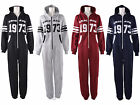 Womens Ladies Chicago 1973 Print Front Zip Long Sleeve Hooded Onesie Jumpsuit
