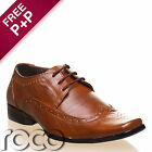Boys Brown Fashionable Oxford Style Formal Brogue Wedding Shoes