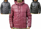 Mens Designer Bellfield Jacket Shiny Puffer Bomber Hooded Bubble Puffa Warm Coat