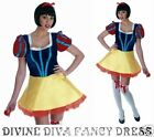 Costume Snow White Ladies Dress Blue Yellow w/ Net Underskirt Teen Fancy Dress