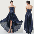 Free Ship High-Low Hem Evening Prom Dress Formal Bridesmaid Cocktail Party Gowns