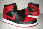 NEW 2013 DS Nike Air Jordan Retro 1 I High OG Black Red Bred Sz 12