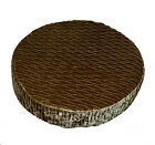mp04r Bronze Brown Folds Shimmer Velvet Style 3D Round Seat Cushion Cover Size