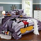 Twin Queen King Duvet Cover Comforter Sets 5Pc Lt Purple White Mickey Mouse