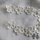DAISY LACE HEADBAND, GLASS PEARL, TULLE RIBBON,BRIDE, BRIDESMAID,