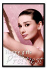 Framed Audrey Hepburn Happy Girls Are The Prettiest Poster New