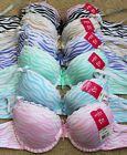 Lot 1 3 6 Wired Stripe Floral Lace PUSH UP Pushup Demi 30A 32A 34A 36A Bra #2126