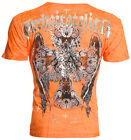 Archaic AFFLICTION Mens T-Shirt CORROSION Cross Wings Tattoo Biker MMA $40 image