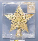 Filagree style Christmas Tree Star Topper in Gold Red or Silver