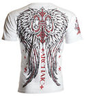 Archaic AFFLICTION Mens T-Shirt BRIGAND Wings Tattoo Fight Biker M-4XL $40 image