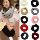 New Women Winter Warm Infinity Circle Cable Knit Cowl Neck Long Scarf Shawl