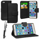 PU Leather Flip Wallet Book Case Cover, LCD Film & Pen For APPLE Iphone 6 (4.7*)