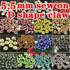 100 5.5mm Sew On Cut Glass Crystals Rhinestones Diamantes beads Jewels pk color