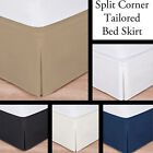 "Luxury Hotel Bed Skirt: Tailored Pleat, Queen Size, 14"" Drop, 5 Colors Available image"