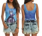 Disney Sleeping Beauty Villain Maleficent Stretch Tank Bodysuit Juniors Size NWT