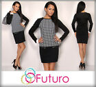 ☼ Women's Tunic with Zipper ☼ Dress Teeth Pattern Crew Neck Sizes 8-14 FK1204