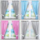 LUXURY 2 PIECE BABY BEDROOM CURTAINS SETS WITH TIE BACKS PATTERNED MATCHING BED