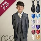 Boys Grey Suit, Boys 4pc Cravat Suit, Boys Dinner Suit, Boys Grey Pageboy Outfit