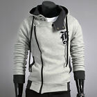 COAT JACKETS FOR MEN WINTER HOODIE SIDE ZIP OUTWEAR SWEATS HOODED PARKA OVERCOAT