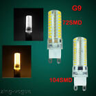 4X G9 Led Bulbs 72 104SMD 5W/6W Light Halogen replacement Capsule Lamp Day/Warm