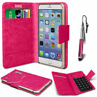 Hot Pink Leather Suction Wallet Flip Mobile Phone Case For Various Xiaomi Sets