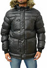 Mens Designer Foray Jacket Padded Chunky Puffa Quilted Warm Heated Winter Coat