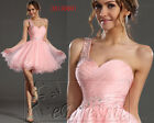 Carlyna eDressit Pretty Pink One Strap Cocktail Dress Party Ball Gown UK 8-20
