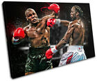 Mike Tyson Lennox Lewis Sports SINGLE CANVAS WALL ART Picture Print VA