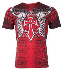 XTREME COUTURE by AFFLICTION Mens T-Shirt AFTERSHOCK Tattoo Biker MMA UFC $40