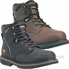 """Timberland PRO Work Boots Mens Pit Boss 6"""" Steel Toe Leather Boots Brown, Black"""