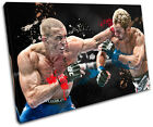 MMA Georges St. Pierre Sports SINGLE CANVAS WALL ART Picture Print VA
