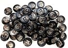 15mm Dark Brown Patterned 4 Hole Quality Buttons Various Pack Sizes Joblot (CC8)