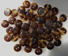 Small 12mm Brown Tortoise Shell 2 Hole Quality Buttons Various Pack Sizes (CC9)