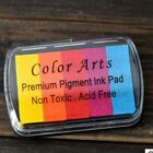 Rainbow Color Ink Pad Set Rubber Wood Stamps Paper Wedding Crafts Scrapbook Deco