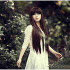 New Women's Straight Long Full Hair Wigs Cosplay Party Wig With full Bangs