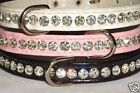 Designer Dog Collar Crystal Bling Rhinestones vegan Snakeskin Small Pet CUTE!