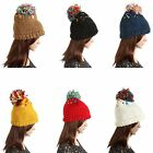 Newest  Women Sweet Warm Crochet Knitting Wool Hats Ski Beanie Big Ball Hat Caps