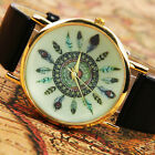 New Arrival Leather Feather Geneva Quartz Watches  For Women Dress Watch NoITHS