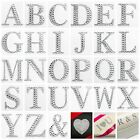 5.5cm Large Self Adhesive Letters Diamante Post Box Favour Embellishment Crafts