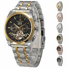 KS Fshion Stainless Steel Tourbillon Automatic Mechanical Day Date Mens Watch