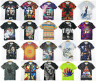 Fashion Men Women 3D Skull Print Floral T Shirt Round Neck Short Sleeve T-shirt