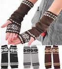 Fashion Arm Hand Warmer Mitten Long Fingerless Snowflake Winter Gloves NEW