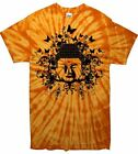 BUDDHA TIE DYE T-SHIRT - Buddhist Buddhism Festival Meditation - Colour Choice