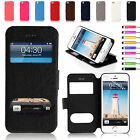 Ultra Slim S-View Flip Leather Stand Case Cover for iPhone 5 5s
