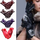New Fashion Women Girls Winter Soft Leather Mitten Gloves Warm Driving Gift