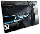 BMW I8 Cars SINGLE CANVAS WALL ART Picture Print VA