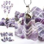 Amethyst Quartz Stone Gemstone Irregular Purple Charms Pendant Bead For Necklace